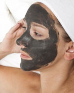 Mineral Mud on face